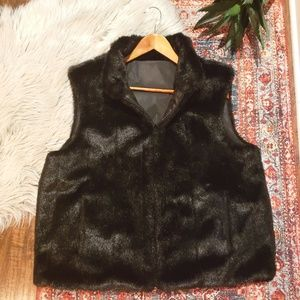 Gallery Reversible Faux Fur Vest